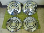 73 74 75 76 Ford Hub Caps 15 Set Of 4 Wheel Covers Hubcaps 1973 1974 1975 1976