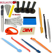 Car Wrapping Vinyl Micro Squeegee Set Magnetic Gasket Carbon Fiber Tucking Tool