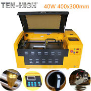 Upgraded 40w Usb Co2 Laser Engraving Cutting Machine Engraver Cutter 400x300mm