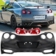 Fits 09-22 Nissan Gtr R35 Oe Factory Style Rear Bumper Cover + Tail Brake Lights