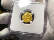 Mexico 1 Escudo 1690andrsquos 1715 Fleet Jeweled Cross Ngc 63 Pirate Gold Coins