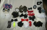 Vintage 80s 90s Big Hair Bows Clips Ribbons Accessories Scrunchies Costume