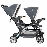 Baby Trend Sit N' Stand Easy Fold Twin Double Infant Toddler Stroller Open Box