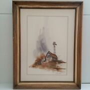 Steve Polomchak Watercolor Painting Signed 24 By 18 Inches Farm Scene Barn