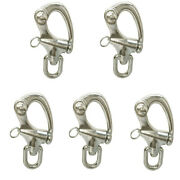Swivel Eye Snap Shackle Anchor 6173 Lbs 5 Pc 3-1/2and039and039 Marine Stainless Steel