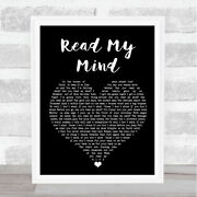 Read My Mind Black Heart Song Lyric Music Gift Present Poster Print
