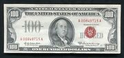 Fr. 1551 1966-a 100 One Hundred Dollars Legal Tender United States Note Au