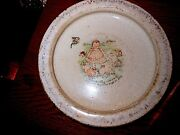 Vintage Estate Find Rare Holdfast D.e. Mcnicol Heavy Stoneware Baby Bunting Bowl