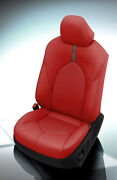 Katzkin Leather Seat Covers 2018-2020 Toyota Camry Le Se Red Silver Suede Fog