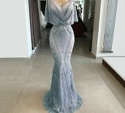 Ladies Evening Dress Lace Beaded Mermaid Party Gowns Elegant Stylish Formal Wear