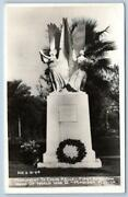 1930-1950 Rppc Madison Floridacolin Kelly Wwii 1st American War Hero Monument