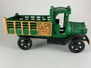 Die Cast Collectible Ford Truck Green Stake Bed Cast Iron Vintage Malatesta