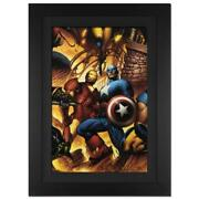 Marvel Comics New Avengers 6 Canvas Hand Signed By Stan Lee Numbered 4 Of 10