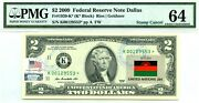 2 Dollars Star 2009 Stamp Cancel Flag Of Un From Malawi Lucky Money 5000