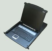 Kvmp Switch Aten Cl5708m-ata 8-fold With 17 Lcd Console And Lighted Keyboard