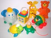 Vintage Fisher Price Baby And Toddler Toys Bundled Lot 2