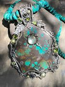 Echo Of The Dreamer Mars And Valentine Turquoise Vine Necklace Nd1031
