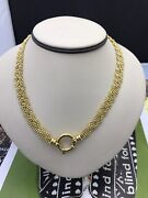 18k Solid Yellow Gold Braided Beadsnecklace Pendant Chain 17andrdquo 10mm 49.6 Grams