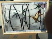 Large Framed Stained Glass