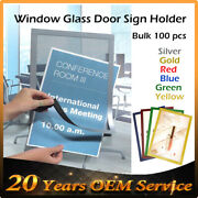 100x A3 A4 Sign Holder Window Display Poster Door Double Sided Adhesive Magnetic