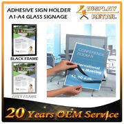 100x Real Estate Windows Display Sign Holder Poster Door Glass Adhesive Magnetic