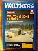Walthers 1/87 Ho Cornerstone Walton And Sons Lumber Model Kit Item 933-3057 F/s