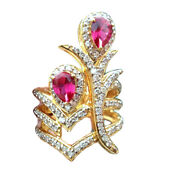 2.00ct Diamond Ruby 14k Yellow Gold Christmas Wedding Ring Shop Early And Save