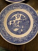 Vintage Willow Ware Royal China Made In The Usa Dinner Plate 9andrdquo