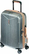Hartmann 7r Small Spinner Carry On Aluminum Luggage In Titanium