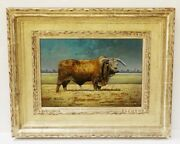 Stunning Cow Painting Signed By Artist Nathan Bennett