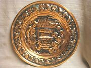 Classic Vintage Copper Plate / Plaque By Coppercraft Guild Of Taunton Mass.