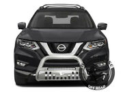 Black Horse Fit 14-20 Nissan Rogue Led Bull Bar Grille Guard Protector Nudge