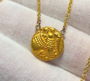 India Elephant W/ Solid Gold Chain Pagoda Womens Jewelry Pendant Necklace