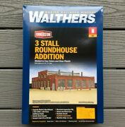 Walthers 1/160 N Scale Cornerstone 3 Stall Modern Roundhouse Addition 933-3261
