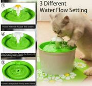 Automatic Cat Dog Water Drinking Dispenser Flower Fountain Pet Bowl With Filters