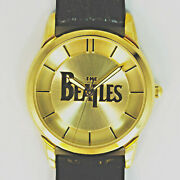 Beatles Collectible Fossil Gold Tone Watch Numbered Xx Of 1k Leather Band 199