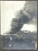 Large Cabinet Photo Of 1908 Pond Fire At American Car And Foundry Co Madison Il