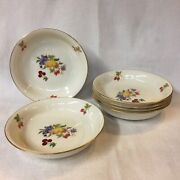 Lenox Summer Harvest L21 2 Two Flat Soup Dishes Early Gold Mark Usa