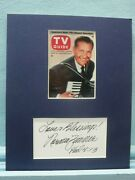 The Lawrence Welk Show And Norma Zimmer Autograph As The Champagne Lady
