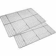 Checkered Chef Cooling Racks For Baking - Twin Set. Stainless Steel Oven Safe Of