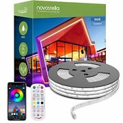 52.5 Ft Outdoor Rgb Led Stripe Rope Lights Music Sync App Control Dimmable