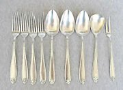 Wmf Antique Silver Plated Flateware 9 Pieces 4 Forks 3 Spoons Fish Fork Salad Sp
