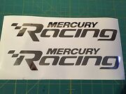 Mercury Racing 2014 24 New Chrome Sticker Race Boat Outboard Decal You Get 2