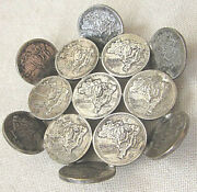 Old Small Sweet Dish Made From Brazilian Coins 2 Cruzeiros 1945-1947