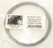 10m .032 Monel 400 Seizing Wire Lockwire Ms20995nc32 Marine Sailboats Aircraft