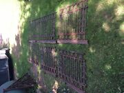Salvage Antique Wrought Iron Balcony Railings With Support Brackets