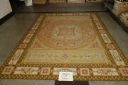 9and039x12and039 Antique Coffee Royal Castel Decor French Rose Scroll Aubusson Wool Carpet