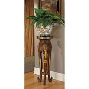 32 Graceful African Elephant Trunks Trio Architectural Pedestal Plant Stand