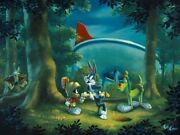 Hare-y Situation Bugs And Marvin The Martian Cel Related Hand Signed Rob Kaz