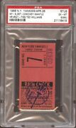 Mickey Mantle 1968 Psa Ticket Pass Mt /hr 521 Ties With Ted Williams Yankees